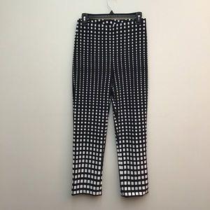 Joseph Ribkoff checker patterned pants.  Size 6